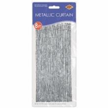 """Metallic Door Curtain Silver ~ 36"""" x 8'"""