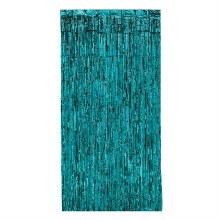 """Metallic Door Curtain Teal ~ 36"""" x 8'"""