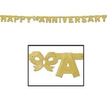 Banner Anniversary Gold