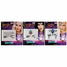 Facial Jewelry Makeup Kit Asst