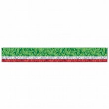 Metallic Fringed Drage (Flame Resistent) Red/White/Green ~ 10'