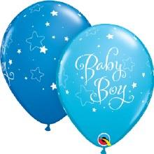 "Baby Boy Blue Stars ~ Matte Finish 11"""