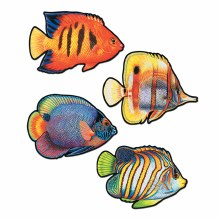 Fish Cutouts 4 pk 16in