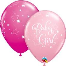 "Baby Girl Pink Stars ~ Matte Finish 11"""
