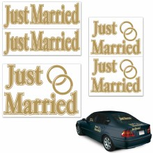 Auto Clings Just Married