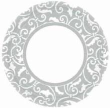 Ornamental Scroll 9in Plt Slvr