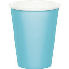 Blue Pastel Hot/Cold Paper Cups 24ct