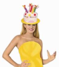 Hat Birthday Cake Light Blue