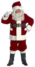 Santa Plush Burgundy Adult XLg