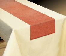 Table Runner Fabric Rust