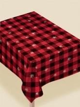 Plaid Tablecover Flannel/Vinyl