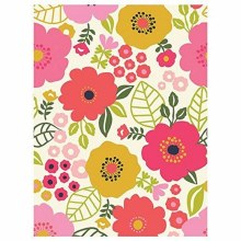Coral Floral Plastic Tablecover