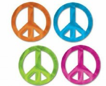 Cutouts Peace Signs Metallic