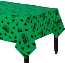 School Colors Green Plastic Tablecover