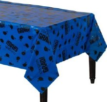School Colors Blue Plastic Tablecover