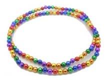 Beads Sm Round Rainbow