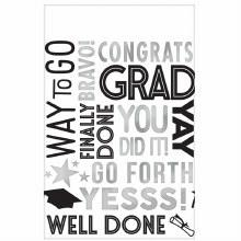 Congrats Grad Plastic Tablecover