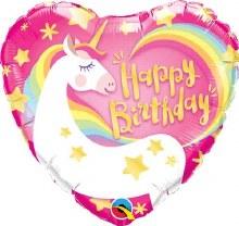 "Magical Unicorn Heart Happy Birthday ~ 18"""