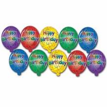 Happy Birthday Cutouts Mini