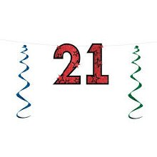 """Streamer Glitter """"21"""""""