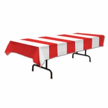 Tablecover Red/Wht Stipes