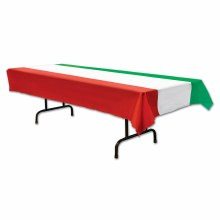 Tablecover Red/Wht/Grn Stipes