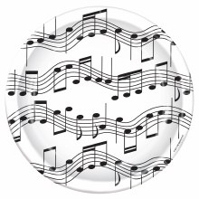 Music Note 9in Plate