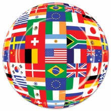 International Flag 9in Plate