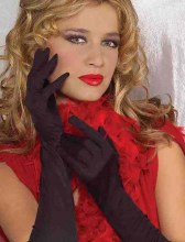 Gloves Rouched Black