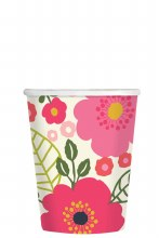 Coral Floral 9oz Cups 8ct