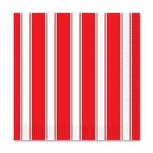Red White Stripe Bev Nap