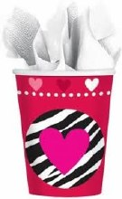 Peace and Love 9oz. Paper Cups 8pk