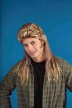 Wig 80's Long Mullet Blonde