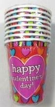 Hip Hearts Paper Cups 8pk