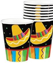 Fiesta Fun 9oz H/C Cup 8ct