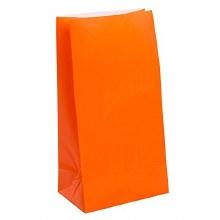 Bags Paper Orange 12pk