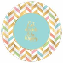 Eat & Be Happy 10.5in Plt