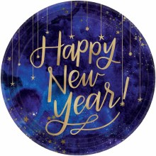 Happy New Year Midnight Plate