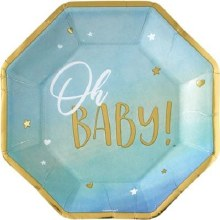 Oh Baby 10in Plate Blue