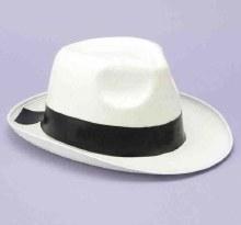 Hat Fedora Gangster White