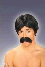 Wig Burt Black w/ Mustache