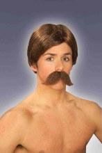 Wig Burt Brown w/ Mustache