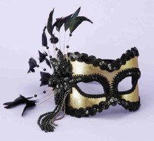 Mask 1/2 Black/Gold