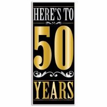 Here's To 50 Years Door Cover