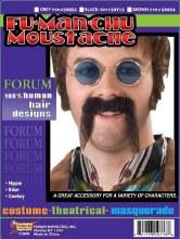 Moustache Fu Manchu Black