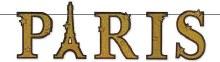 Paris Gold Glitter Banner
