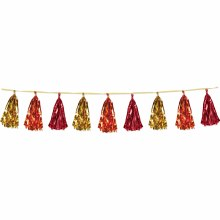 Tassel Garland Gld/Org/Red Fall Colors