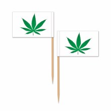 Picks Weed Pot Leaf Flags