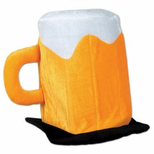 Hat Beer Mug Plush