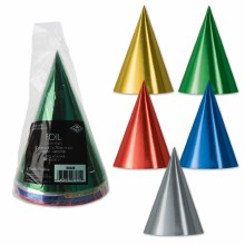 Hats Cone Metallic Primary